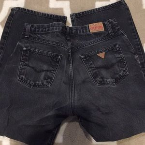 Mens Guess Jeans 31x30 in Off Black
